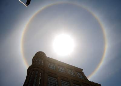 El Fenómeno natural que sorprendió a los capitalinos — Halo solar