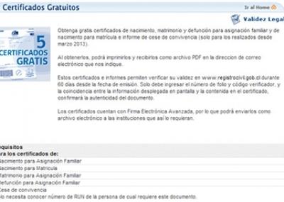 Registro Civil Chile Obtener Certificados Gratuitos Online El
