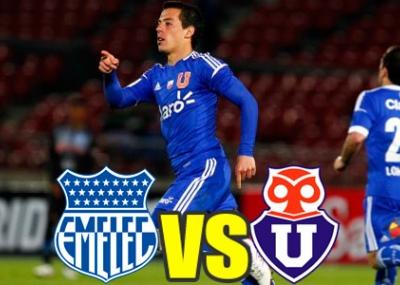 Ver en vivo Universidad de Chile vs. Emelec online y gratis hoy 25 de