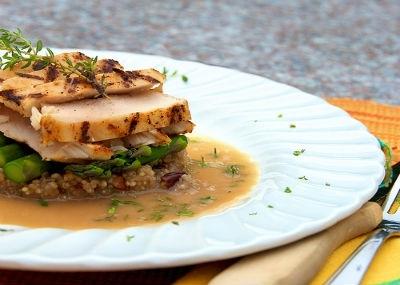 Recetas Cena de Navidad Filete al Horno con ragout de qunoa El