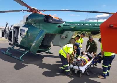Operativo de rescate en Volcán Quetrupillán por dos turistas que sufrieron accidente